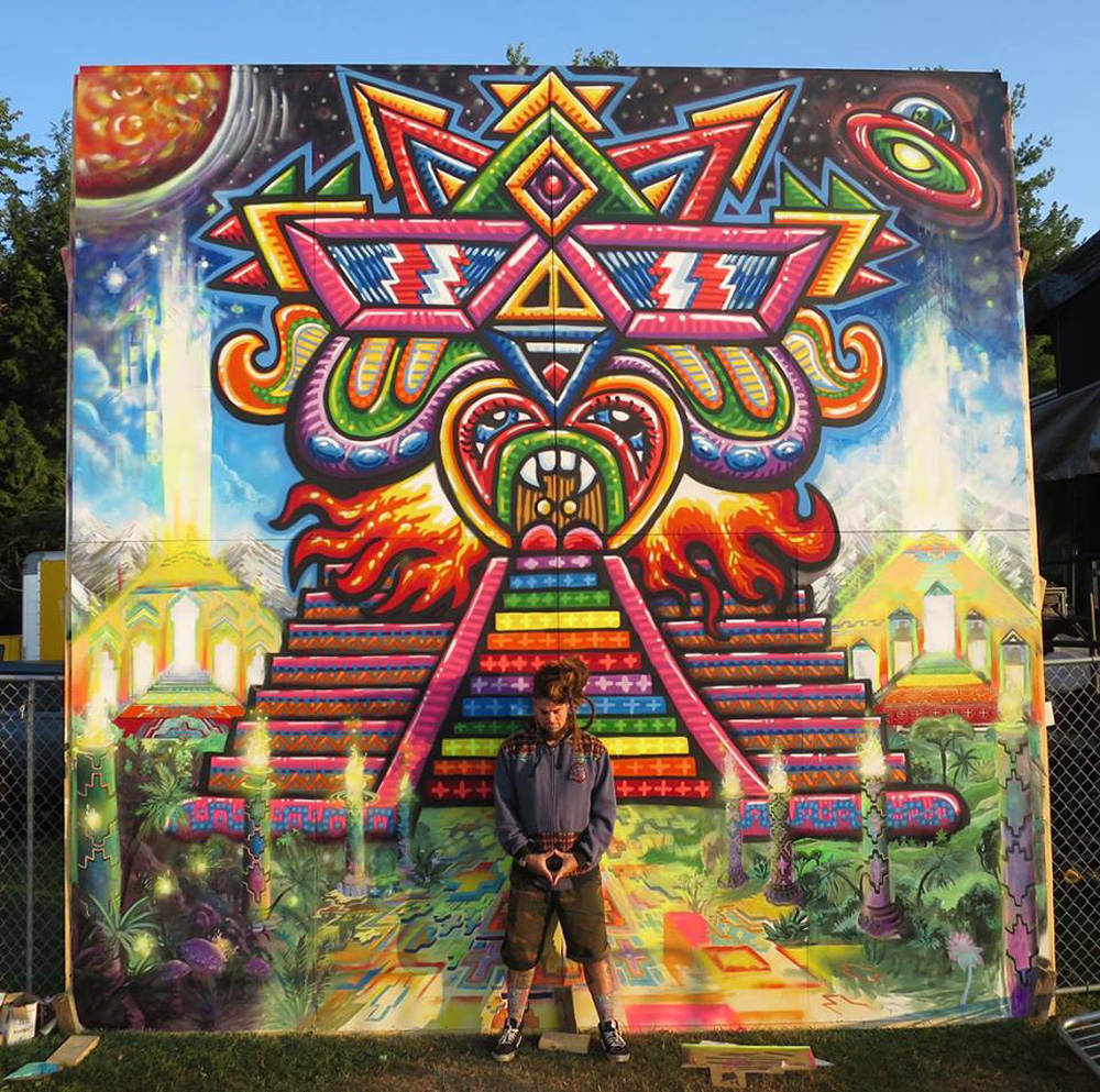 Chris Dyer mural Temple of Boom
